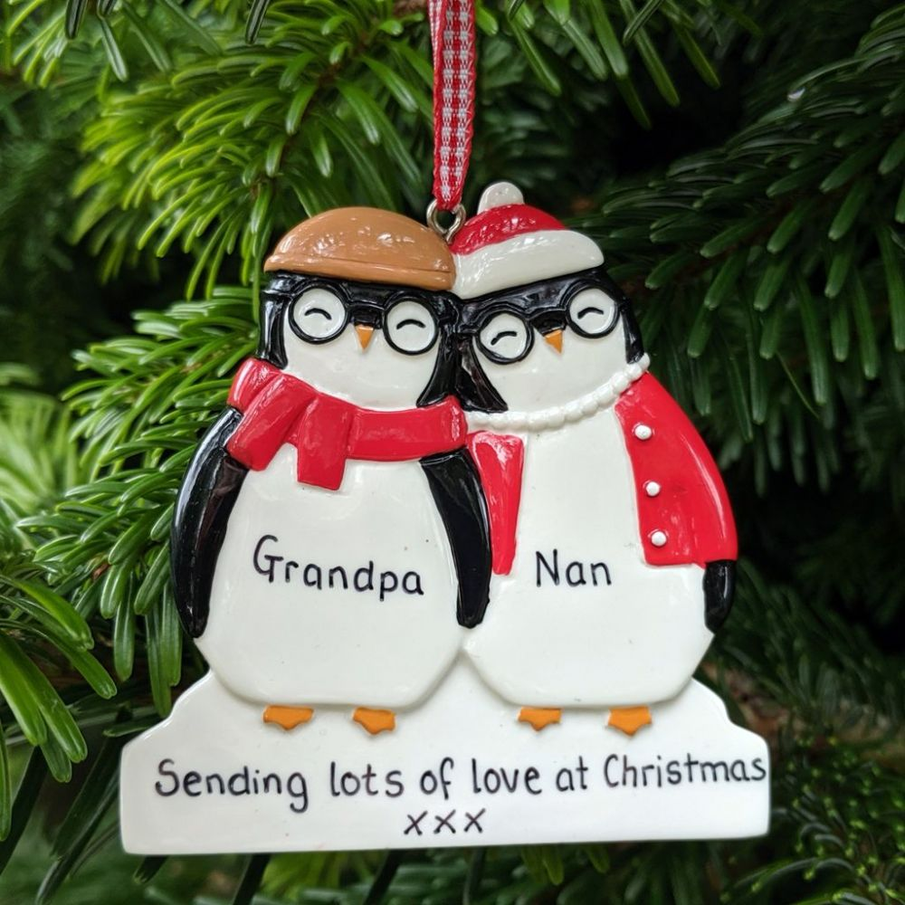 Personalised Penguin Couple Dressed